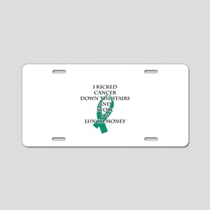 Cancer Bully (Teal Ribbon) Aluminum License Plate