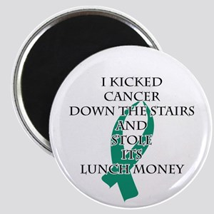 Cancer Bully (Teal Ribbon) Magnets