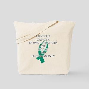 Cancer Bully (Teal Ribbon) Tote Bag