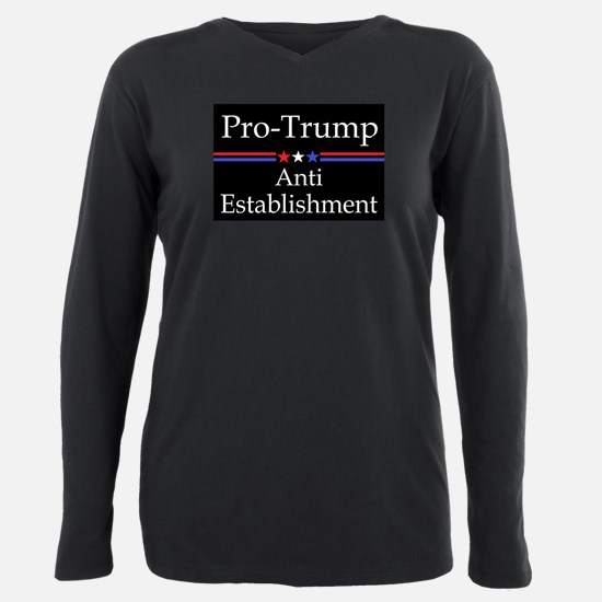 Pro Trump Plus Size Long Sleeve Tee