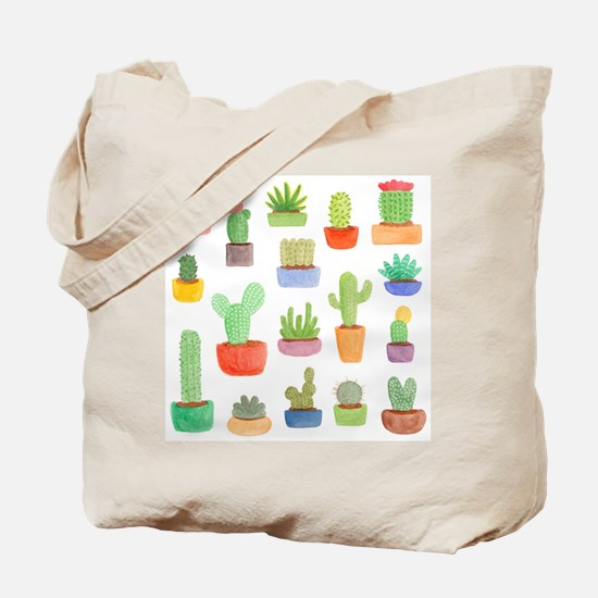 Pots of Cactus and Succulents Tote Bag