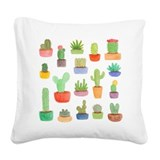 Cactus pots Square Canvas Pillows