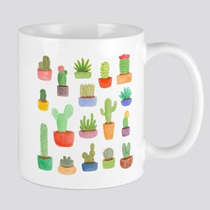 Pots of Cactus and Succulents Mugs
