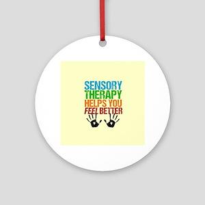 Sensory Therapy OT Round Ornament