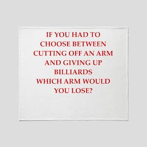 billiards Throw Blanket