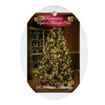 Romance Upon A Midnight Clear Oval Ornament