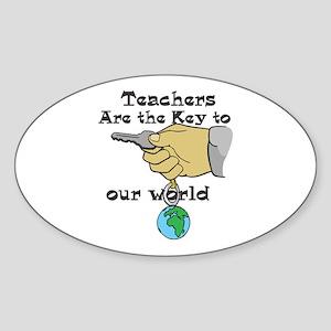 Teacher Appretiation Oval Sticker