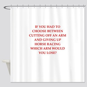 horse racing Shower Curtain