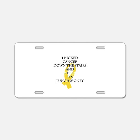 Cancer Bully (Gold Ribbon) Aluminum License Plate