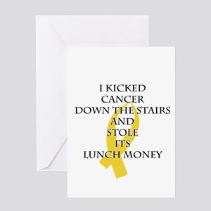 Cancer Bully (Gold Ribbon) Greeting Cards
