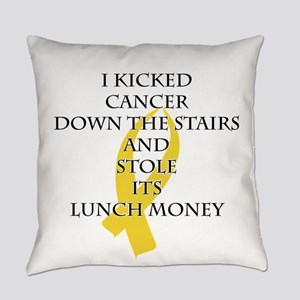Cancer Bully (Gold Ribbon) Everyday Pillow