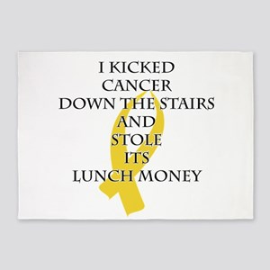 Cancer Bully (Gold Ribbon) 5'x7'Area Rug