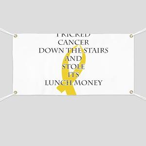 Cancer Bully (Gold Ribbon) Banner