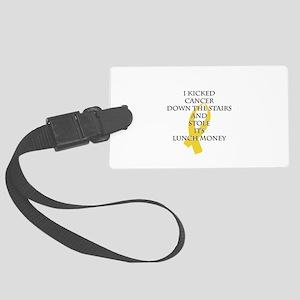 Cancer Bully (Gold Ribbon) Luggage Tag