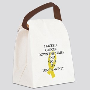 Cancer Bully (Gold Ribbon) Canvas Lunch Bag
