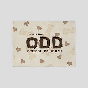 Obsessive Dog Disorder 5'x7'Area Rug