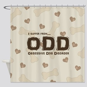 Obsessive Dog Disorder Shower Curtain