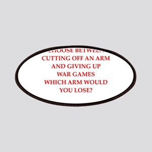 sports and gaming joke on gifts and t-shirts. Patc