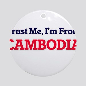 Trust Me, I'm from Cameroon Round Ornament