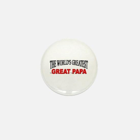 """The World's Greatest Great Papa"" Mini Button"