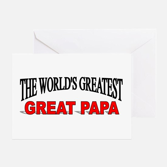 """The World's Greatest Great Papa"" Greeting Card"