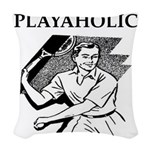 sports and gaming joke Woven Throw Pillow