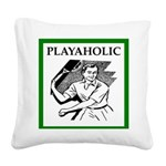 sports and gaming joke Square Canvas Pillow
