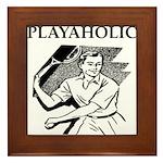 sports and gaming joke Framed Tile