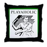 sports and gaming joke Throw Pillow