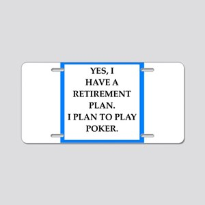 poker Aluminum License Plate