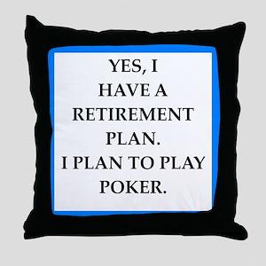 poker Throw Pillow