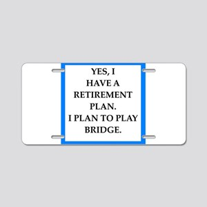 bridge Aluminum License Plate