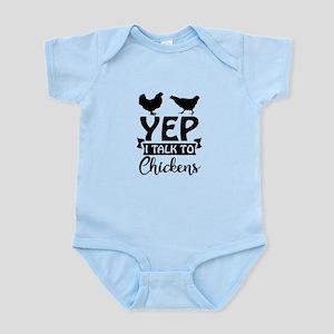 Yep I Talk To Chickens Body Suit