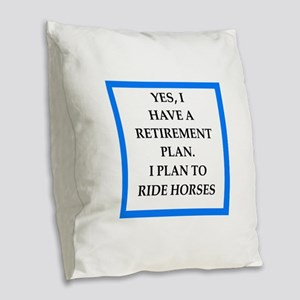 equestrian Burlap Throw Pillow