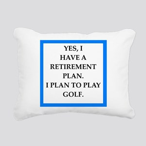 golfer Rectangular Canvas Pillow