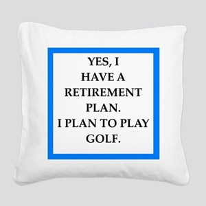 golfer Square Canvas Pillow