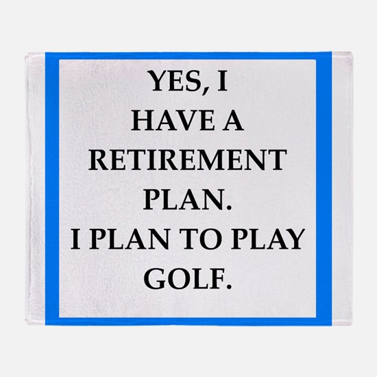 golfer Throw Blanket