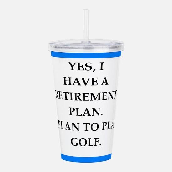 golfer Acrylic Double-wall Tumbler