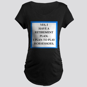 horseshoes Maternity T-Shirt