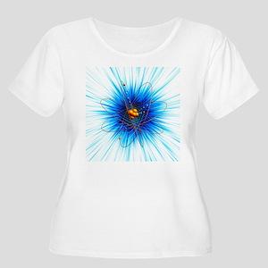 Atomic structure, artwork Plus Size T-Shirt