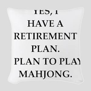 mahjong Woven Throw Pillow