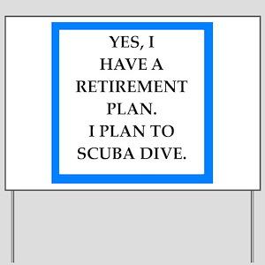 scuba diving Yard Sign