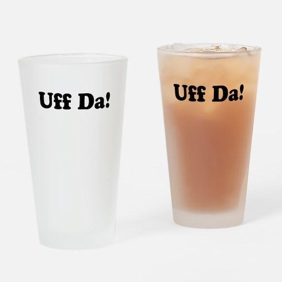 Uff da! Drinking Glass