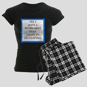 retirement joke on gifts and t-shirts. Pajamas