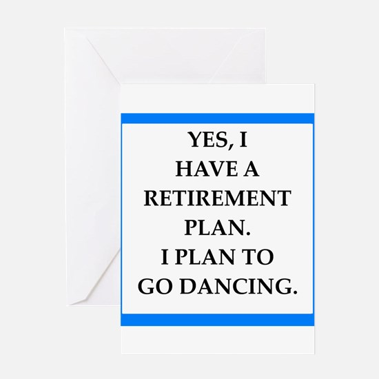 retirement joke on gifts and t-shirts. Greeting Ca