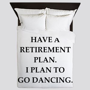 retirement joke on gifts and t-shirts. Queen Duvet