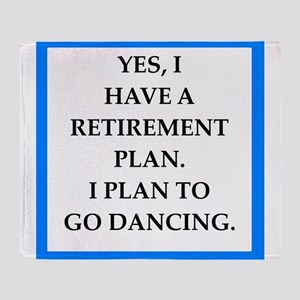 retirement joke on gifts and t-shirts. Throw Blank