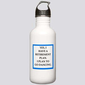 retirement joke on gifts and t-shirts. Water Bottl
