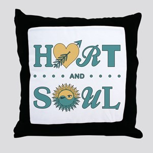 HART AND SOUL Throw Pillow