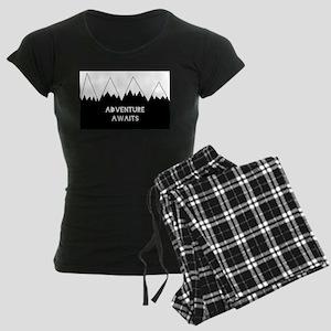 Adventure Awaits Women's Dark Pajamas